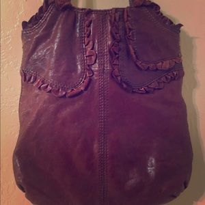 SOLD Lucky Brand Deep Red Italian lamb leather